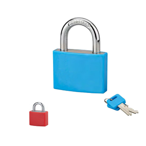 Aluminium Padlock with Plastic Cover